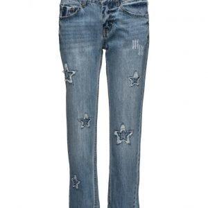 Mango Estrella Straight Cropped Jeans suorat farkut