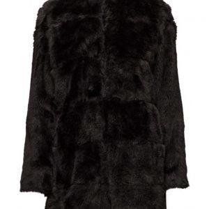 Mango Faux Fur Coat tekoturkki