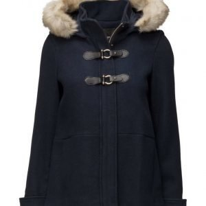Mango Faux-Fur Wool-Blend Duffel Coat villakangastakki