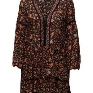 Mango Floral Print Dress lyhyt mekko