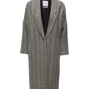 Mango Herringbone Pattern Wool Coat villakangastakki