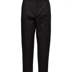 Mango High-Waist Cotton Trousers suorat housut