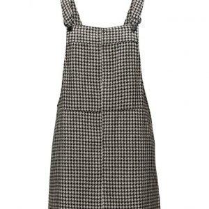 Mango Houndstooth Pinafore Dress lyhyt mekko