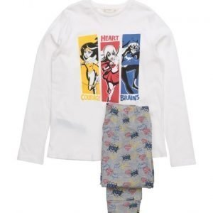 Mango Kids Superheroine Cotton Pyjamas pyjama