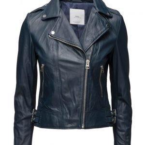 Mango Leather Biker Jacket nahkatakki