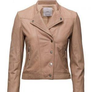 Mango Leather Jacket nahkatakki