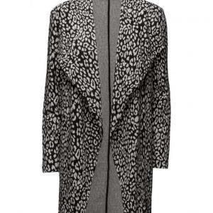 Mango Leopard Pattern Jacket kevyt päällystakki