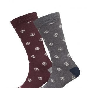 Mango Man 2 Pack Patterned Socks nilkkasukat
