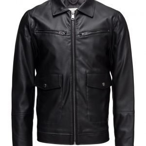 Mango Man Aviator Zip Jacket nahkatakki