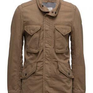 Mango Man Cotton Canvas Field Jacket kevyt takki