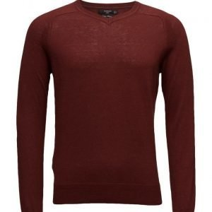 Mango Man Cotton Cashmere-Blend Sweater v-aukkoinen neule