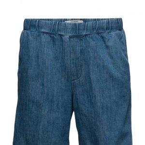 Mango Man Elastic Waist Denim Bermuda Shorts bermudashortsit