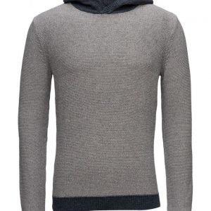 Mango Man Hood Cotton Sweater pyöreäaukkoinen neule