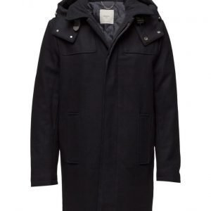 Mango Man Hooded Wool Coat villakangastakki