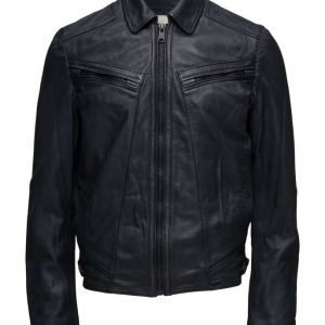 Mango Man Leather Aviator Jacket nahkatakki