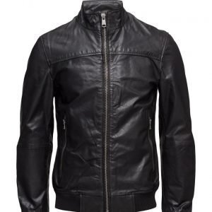 Mango Man Leather Biker Jacket nahkatakki