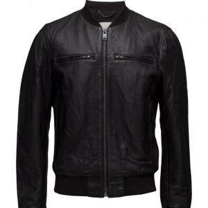 Mango Man Leather Bomber Jacket nahkatakki