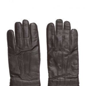 Mango Man Leather Wool-Blend Gloves hanskat