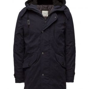 Mango Man Quilted Hooded Parka takki
