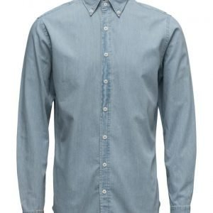 Mango Man Slim-Fit Chambray Shirt