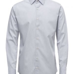 Mango Man Slim-Fit Fine-Stripe Shirt