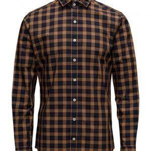 Mango Man Slim-Fit Madras Check Shirt