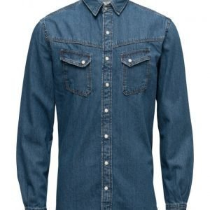 Mango Man Slim-Fit Medium Denim Shirt