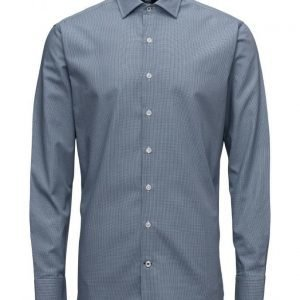 Mango Man Slim-Fit Micro-Houndstooth Tailored Shirt
