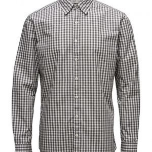 Mango Man Slim-Fit Patterned Check Shirt