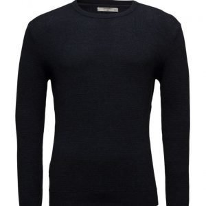 Mango Man Textured Cotton Sweater pyöreäaukkoinen neule