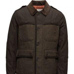Mango Man Wool-Blend Contrasting Jacket villakangastakki
