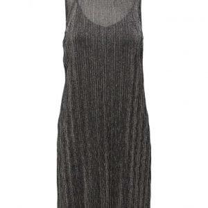 Mango Metallic Pleated Dress lyhyt mekko