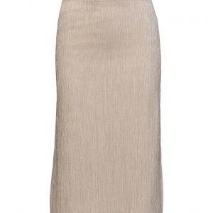 Mango Metallic Pleated Skirt mekko
