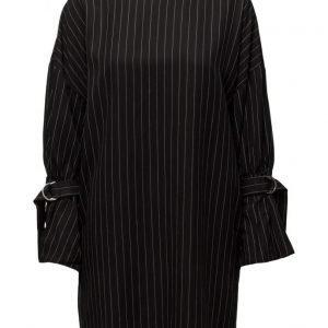 Mango Pinstripe Print Dress mekko