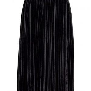 Mango Pleated Velvet Skirt mekko