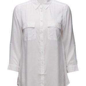 Mango Pockets Flowy Shirt pitkähihainen pusero