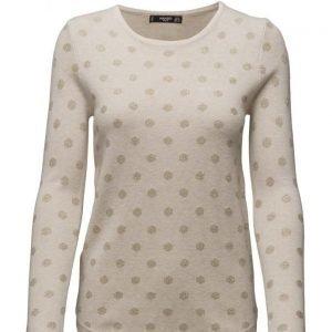 Mango Polka-Dot Cotton-Blend Sweater neulepusero