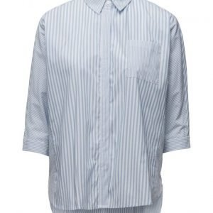 Mango Striped Cotton Shirt lyhythihainen paita