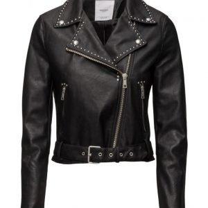 Mango Studded Biker Jacket nahkatakki