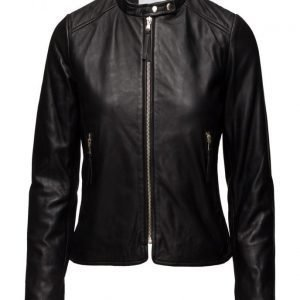 Mango Zip Leather Jacket nahkatakki