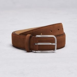 Marccetti Dino Suede Belt Brown