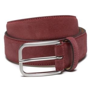 Marccetti Dino Suede Belt Red