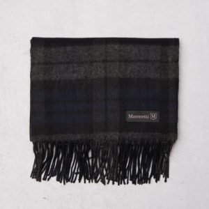 Marccetti Stefano Checked Scarf Black/Grey