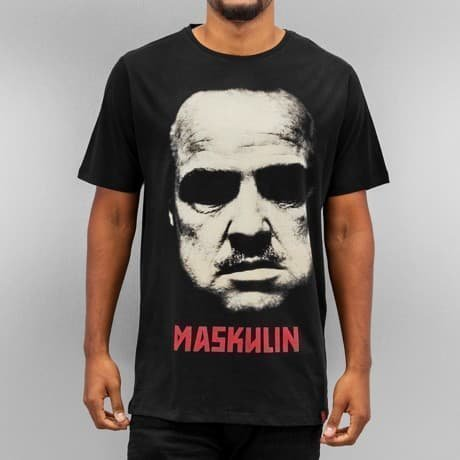 Maskulin T-paita Musta