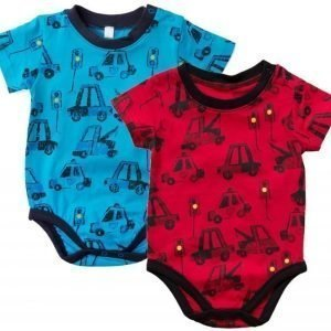 Max Collection Lyhythihainen body 2 kpl Blue/Red