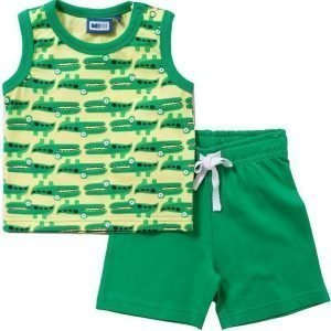 Max Collection Paita ja shortsit Bright green/yellow Navy