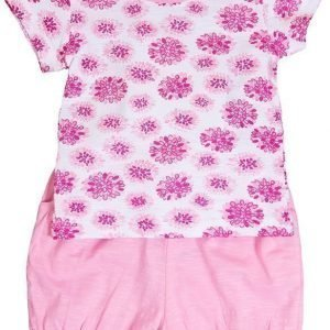 Max Collection T-paita ja shortsit White/pink Pink