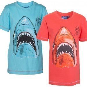 Max Collection T-paita painatuksella 2 kpl Blue/Red