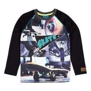 Me Too T-paita Aduku  Musta Kuvioitu