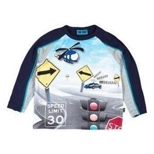 Me Too T-paita Andi mini  Sininen Kuvioitu